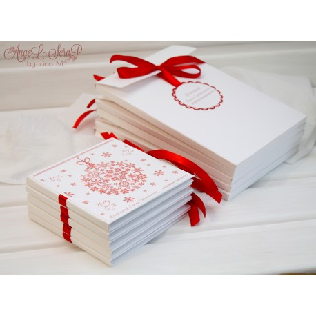 Новогодний конверт для диска и фото