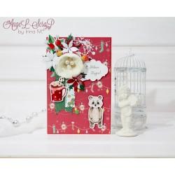 Новогодняя открытка с пандой