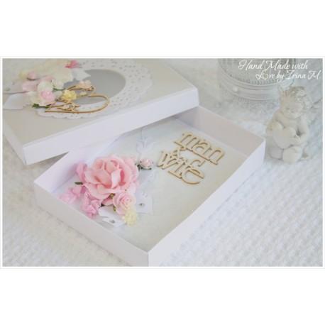 Свадебный комплект: открытка в коробочке