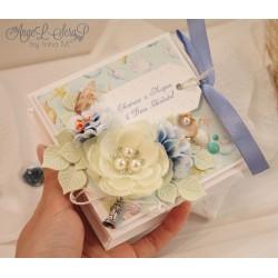 Коробочка для денежного подарка на свадьбу в морском стиле