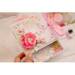 Коробочка для денежного подарка с открыткой на свадьбу