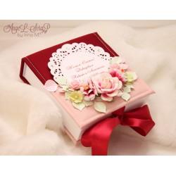 Свадебная коробочка в тканевой обложке