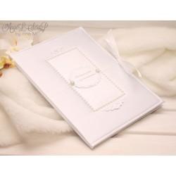 Папка для свидетельства о браке (белый атлас)