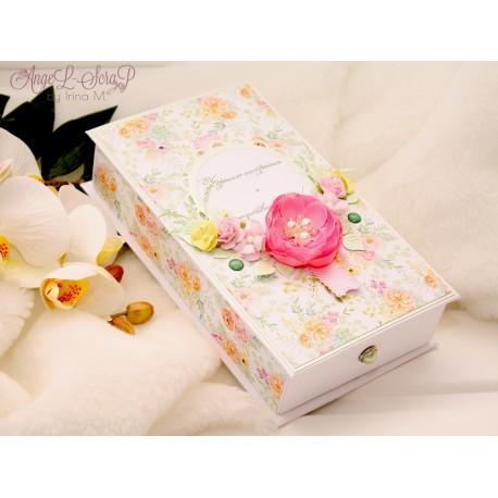 """Большая коробочка для денег """"С Днем Рождения""""+подарочный пакет"""