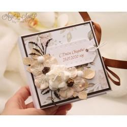 Свадебная коробочка для денег (кофейно-шоколадная)