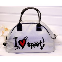 Спортивная сумка из эко-кожи для секции, фитнеса, бассейна