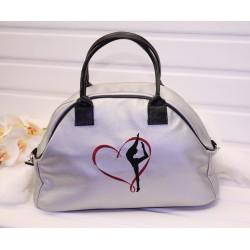 Спортивная сумка из эко-кожи для гимнастки