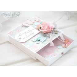 Свадебная коробочка для денежного подарка с открыткой